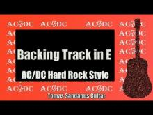 Embedded thumbnail for AC/DC '80s Style  | Hard Rock Guitar Backing Track in E |