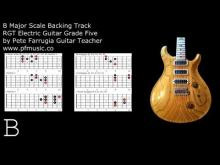 Embedded thumbnail for Guitar Backing Track B Major Scale - Grade Five