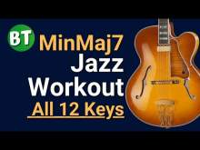 Embedded thumbnail for MinMaj7 Chords Swing Jazz Backing Track (IN ALL 12 KEYS) - 120bpm   (Using the circle of fourths)