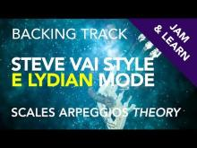 Embedded thumbnail for Steve Vai Style E Lydian Backing Track RE-MASTERED