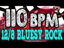 Embedded thumbnail for 110 BPM - Blues Rock Shuffle #1  - 12/8 Drum Track - Metronome - Drum Beat