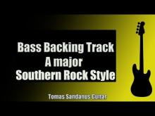 Embedded thumbnail for Bass Backing Track | A major | Southern Rock Style | NO BASS | Chords | Scale | BPM