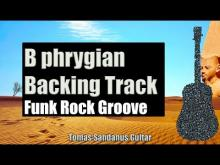 Embedded thumbnail for B phrygian Backing Track - Funk Rock Groove Guitar Backtrack - Chords - Scale - BPM