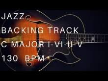 Embedded thumbnail for Jazz Guitar Backing Track 1 - 6 - 2 - 5 | C Major (Medium Swing)