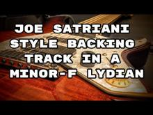Embedded thumbnail for Joe Satriani Style Backing Track in A Minor - F Lydian