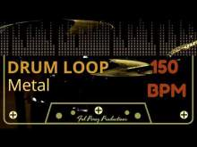 Embedded thumbnail for Metal - Free Drum Loop 150 BPM (Backing Track Bateria)