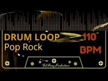Embedded thumbnail for POP ROCK - DRUM LOOP 110 BPM (Backing Track Bateria)