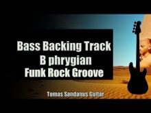 Embedded thumbnail for Bass Backing Track B phrygian - Funk Rock Groove - NO BASS - Chords - Scale - BPM