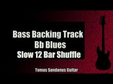 Embedded thumbnail for Bass Backing Track Bb Blues - Slow 12 bar Shuffle - NO BASS - Chords - Scale - BPM