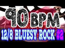 Embedded thumbnail for 90 BPM - Blues Rock Shuffle #2 - 12/8 Drum Track - Metronome - Drum Beat