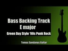 Embedded thumbnail for Bass Backing Track | E major | Green Day Style | Punk Rock '90s | Chords | Scale | BPM